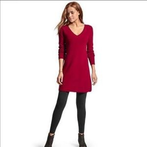 Athleta, Red Sweater Dress, Holiday, L, EUC